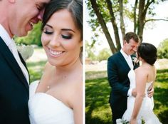 Bride and Groom romance under the Sycamore tree at The Barn at Sycamore Farms