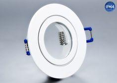 IP44 Aluminium Einbaustrahler weiß rund Feuchtraum