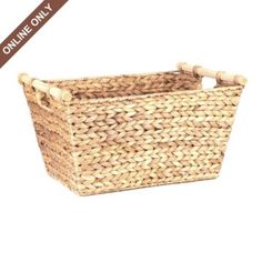 Hyacinth Rectangular Basket
