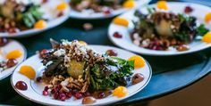 Mixed greens salad with a variety of fresh fruit, walnuts and feta cheese  | Renee Clancy Photography | villasiena.cc