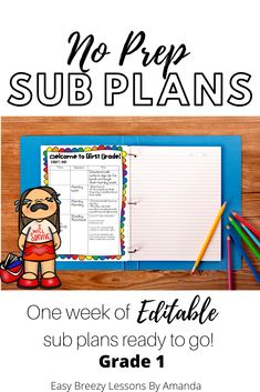 First Grade Sub Tub Ultimate Bundle Week of Plans Ready to Go! Third Grade Math, Fourth Grade, First Grade, Second Grade, Science Lessons, Printable Worksheets, Ready To Go, Full Set, Classroom Management