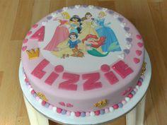 disney princess cakes with all the princesses | versions of my Disney Princesses cake, a beautiful girly pink cake.
