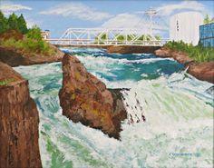 Upper Falls of the Spokane River by Carol Schmauder
