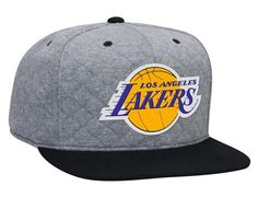 Los Angeles Lakers Quilted High Crown Fitted Baseball Cap by MITCHELL & NESS x NBA