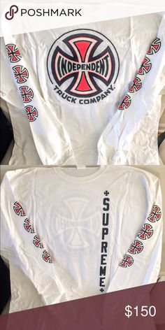STREETWEAR SS17 Archival Supreme Independent collabo Tshirt BNWT. Sz XL. Authentic. Supreme Shirts Tees - Long Sleeve
