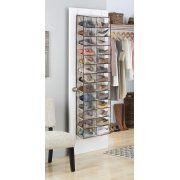 Whitmor Over The Door Shoe Shelves, Tan/Espresso Image 2 Of 4