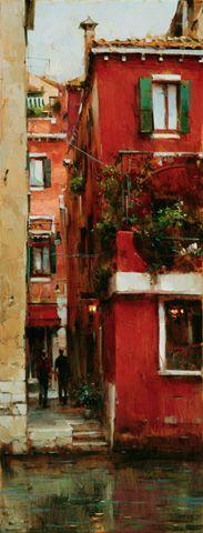 Dmitri Danish Original Oil - Early Morning Venice