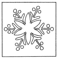 Snowflake II - Rug Pattern on Linen - 16x16 | The Woolery