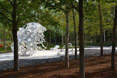 MÉRISTÈME au Festival international des jardins 2014 au Jardin de Métis, Grand Métis, Québec; par le collectif Châssi, Photo : Jérôme Laferrière