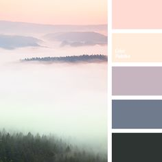 color of fog in mountains, dawn color, dawn colors, fog color, lilac color, pale pink color, pink color, pink sunset colors, sunset color, sunset colors, violet color.