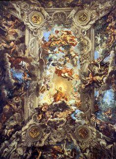 'The Triumph of Divine Providence' Fresco by Pietro da Cortona, circa 1632-1639, Palazzo Barberini, Rome, Italy
