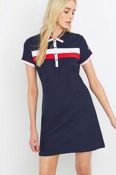 UO Exclusive Fila Serena Navy Polo Dress