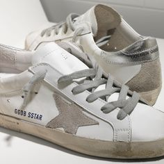 Golden Goose Super Star Sneakers In Leather With Suede Star Women - Golden Goose / GGDB #ggdb #superstar #sneakers #leather #fashion #outlet