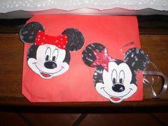 Minnie y Mickey invitaciones en cartulina y brillantina nro. 300007