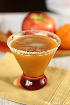Apple Pumpkintini...sounds like a good Thanksgiving drink!