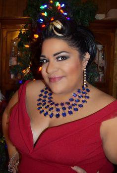 "www.BBWGeneration... ""Having a Bombshell Holiday"" #OOTD #FTF #FashionToFigure #BBWGeneration #PlusSize #Fashion #FATshion #PSBlogger #FBlogger #BlogsByLatinas #LatinaBlogger #FBlogger #Petite #BBW #Retro #Vintage #50s #Red #blogera #bloguera"