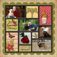 Everyday blessings scrapbook layout