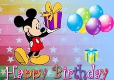 Mickey Mouse Greeting Cards Birthday