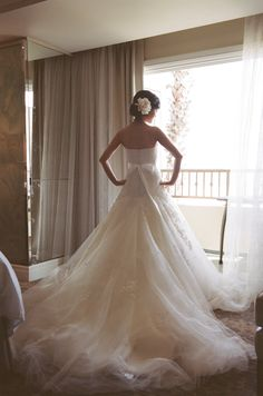 In love with this gorgeous gown | Tikko Weddings | See More: http://thebridaldetective.com/glamorous-seaside-wedding-in-california