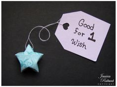 Origami Wishing Stars with Personalized Messages by JRollendzShop, $2.50