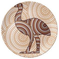 Illustration of Abstract Aboriginal Emu dot painting vector art, clipart and stock vectors. Aboriginal Art Dot Painting, Aboriginal Art Animals, Aboriginal Symbols, Aboriginal Culture, Aboriginal Art For Kids, Aboriginal Dreamtime, Indigenous Australian Art, Indigenous Art, Australian Animals