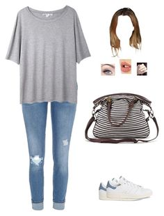"""""""Untitled #1206"""" by sophloveshaz ❤ liked on Polyvore featuring River Island, Acne Studios, adidas, Forever 21 and Charlotte Tilbury"""