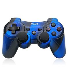PS3 Controller Wireless Dualshock Joystick - KLNO PS36 (2017 New) Bluetooth Gamepad Sixaxis, Super power, USB Charger, Sixaxis, Dualshock3 including 1 cable Compatible with Playstation 3