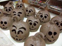 Making Pottery Pumpkins - http://firewhenreadypottery.com