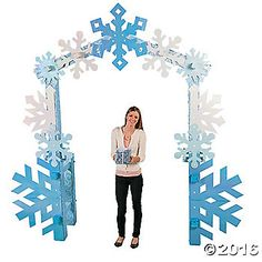 Create a magical entrance into a winter wonderland with our Winter Wonderland Arch! Use these winter wonderland decorations for a holiday party, as a prop for ...