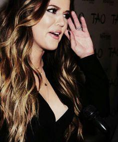 Khloe Kardashian... hair perfection