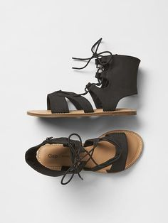 Lace-up strap sandals Product Image