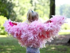 Every child wants to fly — and now you can help them. These bird wings are fun and easy to make, and are the perfect beginning for a fabulous Halloween costume.