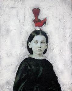 mixed media painting by Stephanie Rubiano