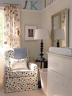 I want that polka dot chair!