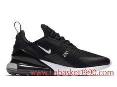 977b0031efcd7 Nike Air Max 270 Chaussures de BasketBall Pas Cher Pour Homme Noir Blanc  AH8050-002