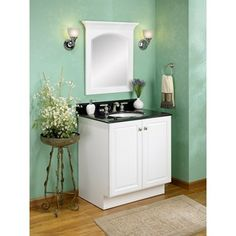 Make Photo Gallery Fairmont Designs Town u Country Flat Front Vanity Polar White or Espresso