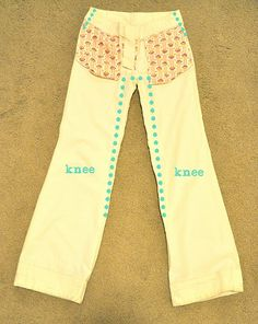 Altering Pants Tutorial - refashioning pants into skinnys or bell bottoms http://www.youtube.com/watch?v=_uO9axlmTcs