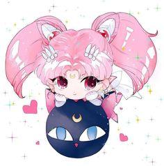 sailor-moon-rei: by 돼지케이크❀ブタケーキ❀ Sailor Moons, Sailor Moon Crystal, Arte Sailor Moon, Sailor Chibi Moon, Sailor Saturn, Anime Chibi, Kawaii Anime, Anime Manga, Anime Art