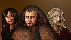 Female version of Thorin, Fíli and Kíli. The princesses of Durin by ~Ringelotta on deviantART