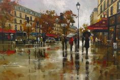 World Art Magazine. Rain Days, Magazine Art, Paris, World, Water, Painting, Umbrellas, Album, Inspiration