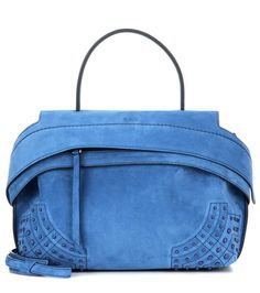 TOD'S Wave Small Suede Tote. #tods #bags #tote #lining #denim #shoulder bags #suede #hand bags #