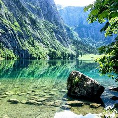 """Heaven is under our feet, as well as over our heads."" Obersee, Germany. #obersee #konigssee #germany #alemanha #deutschland"