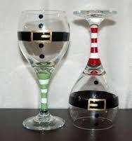 Afbeeldingsresultaat voor wine glass candle holders christmas