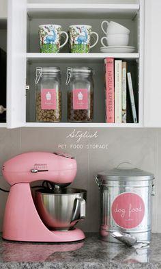 Stylish Simple Safe Pet Food Storage via Pretty Fluffy
