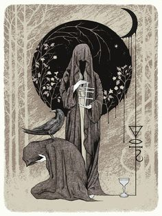 Mourning print by Glyn Smith, Image via www.graphic-noise.com