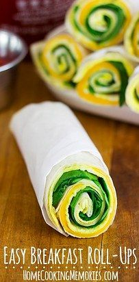 Lighter Spinach, Egg & Cheese Breakfast Rollups | 18 Breakfast Burritos That Will Get You Out Of Bed In The Morning