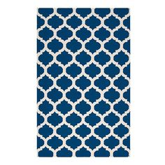 Love the deep rich hue of this rug and the quatrefoil design! Z Gallerie - Casablanca Dhurrie Rug - Indigo