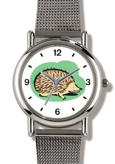 Porcupine or Hedgehog Animal - WATCHBUDDY® ELITE Chrome-Plated Metal Alloy Watch with Metal Mesh Strap-Size-Small ( Children's Size - Boy's Size & Girl's Size ) WatchBuddy. $79.95. Save 37% Off!