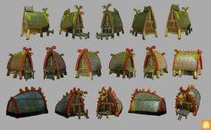 Some Viking's Houses for the game. Fantasy World, Fantasy Art, Buildings Artwork, Dragon House, Viking House, Viking Armor, Httyd Dragons, Dragon Party, Prop Design