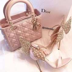 shoes, dior, and pink image Luxury Purses, Luxury Bags, Luxury Handbags, Fashion Handbags, Purses And Handbags, Fashion Bags, Fashion Shoes, Fashion Accessories, Dior Handbags
